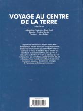 Verso de Les grands Classiques en bande dessinée - Voyage au centre de la terre