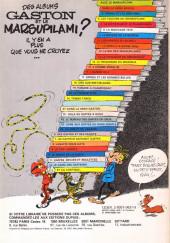 Verso de Gaston (Hors-série) - Gaston et le Marsupilami