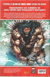 Verso de Les décennies Marvel -6- Les années 90 : l'X-plosion mutante