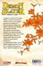Verso de Demon Slayer - Kimetsu no yaiba -1- Tome 1