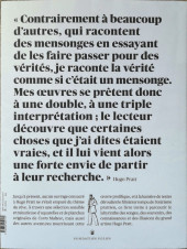 Verso de (AUT) Pratt, Hugo -CAT- Hugo Pratt, les chemins du Rêve