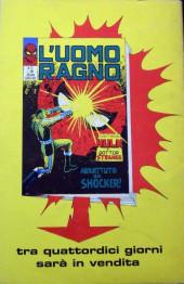Verso de L'uomo Ragno V1 (Editoriale Corno - 1970)  -72- Quicksilver!