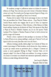Verso de (AUT) Hergé - Tintin & ses clones