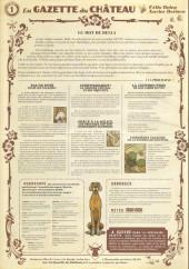 Verso de Le château des Animaux -1a2018- La Gazette du Château n°1