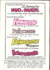 Verso de Frimousse et Frimousse-Capucine -172- L'ile du couchant
