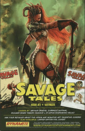 Verso de Savage tales (Dynamite - 2007) -1VC1- Issue #1
