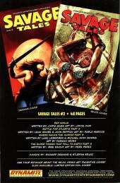 Verso de Savage tales (Dynamite - 2007) -2- Issue #2