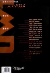 Verso de Universal War One -3c2011- Caïn et Abel