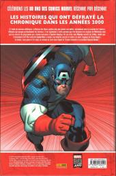 Verso de Les décennies Marvel -7- Les années 2000 : la une des journeaux