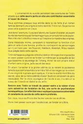 Verso de (AUT) Hergé - Tintin ou l'accès à soi