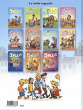 Verso de Les familius -11- La flemme et les enfants d'abord