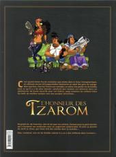 Verso de L'honneur des Tzarom - Tome INT