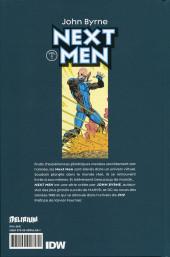 Verso de Next Men (John Byrne's) -1- Vol. 1