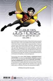 Verso de La ligue des justiciers - nouvelle génération -1- Volume 1