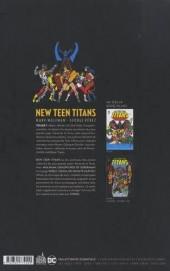 Verso de The new Teen Titans -1- Volume 1