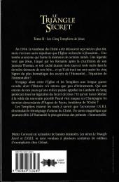 Verso de Le triangle Secret -HS6- Les cinq templiers de Jésus