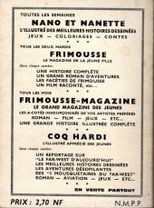 Verso de Frimousse et Frimousse-Capucine -Rec15- Album N°15 (du n°77 au n°82)