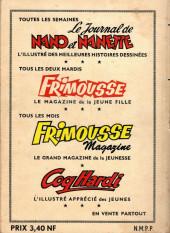 Verso de Frimousse et Frimousse-Capucine -Rec18- Album N°18 (du n°95 au n°100)