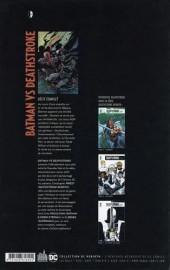Verso de Batman vs Deathstroke