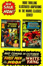 Verso de Marvel Classics Comics (Marvel - 1976) -29- The Prisoner of Zenda