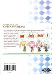 Verso de Sword Art Online - Girls' Ops -6- Tome 6