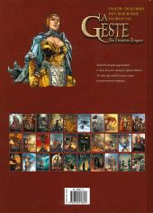 Verso de La geste des Chevaliers Dragons -29- Les Sœurs de la Vengeance
