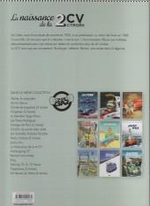 Verso de La naissance de la 2 CV Citroën - La naissance de la 2 cv citroën