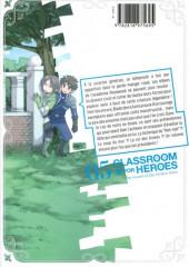 Verso de Classroom for Heroes -5- Tome 5