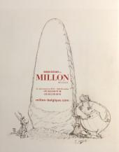 Verso de (Catalogues) Ventes aux enchères - Millon - Millon - Bandes Dessinées - 15 décembre 2019 - Bruxelles