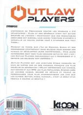 Verso de Outlaw Players -9- Volume 9