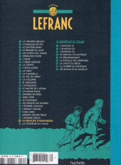 Verso de Lefranc - La Collection (Hachette) -28- Le principe d'heisenberg