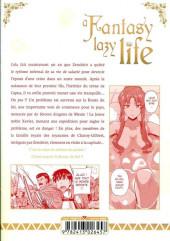 Verso de A Fantasy lazy life -4- Volume 4
