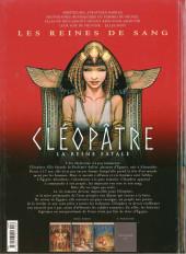 Verso de Les reines de sang - Cléopâtre, la Reine fatale -3- Volume 3