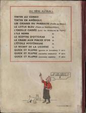 Verso de Tintin (Historique) -11A21- Le secret de la Licorne