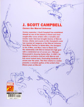 Verso de Marvel Monograph -2- The Art of J. Scott Campbell - The Complete Covers Vol. 1
