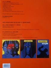 Verso de Blake et Mortimer (Les Aventures de) -16a2008- Les Sarcophages du 6e continent - Tome 1