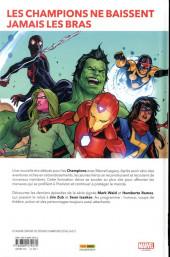 Verso de Champions (Marvel Legacy) -1- Champions d'un jour