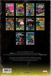 Verso de Black Panther (L'intégrale) -3- L'intégrale 1979-1988