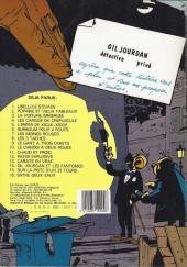 Verso de Gil Jourdan -12a1983- Pâtée explosive -La guerre en caleçon - La poursuite