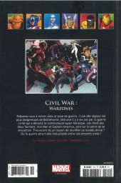 Verso de Marvel Comics - La collection (Hachette) -151114- Civil War - Warzones
