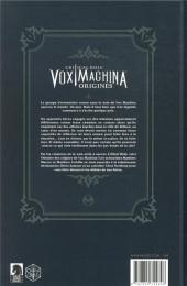 Verso de Critical Role Vox Machina : Origines -1- Tome 1