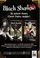 Verso de Black Shadow -1Extrait- Chapitre 1