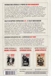 Verso de Mind MGMT -1- 1/3 Guerres psychiques