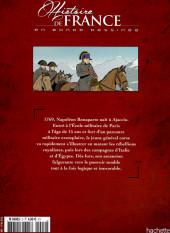 Verso de Histoire de France en bande dessinée -35- De Bonaparte à Napoléon - L'ascension fulgurante - 1769/1804