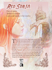 Verso de The art of Red Sonja (Dynamite - 2011) -2- Art of Red Sonja Volume 2