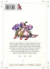 Verso de Les fleurs de la Mer Égée -1- Volume 1