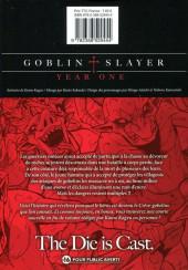 Verso de Goblin Slayer : Year One -3- Tome 3