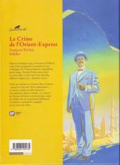 Verso de Agatha Christie (Emmanuel Proust Éditions) -4a2004- Le Crime de l'Orient-Express