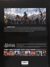 Verso de Ils ont fait l'Histoire -6a2019- Gengis Khan