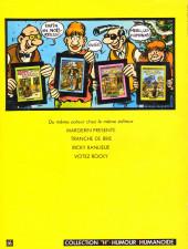 Verso de Frank Margerin présente - Tome 1b1981